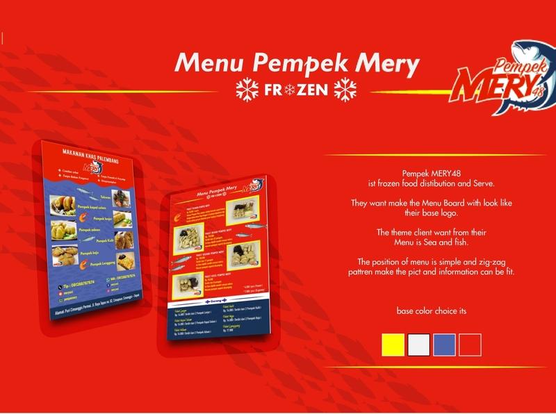 Flyer Pempek Mery menu card branding advertising design vector illustration advertisement illustation adobe illustrator design menu design menu flyer design