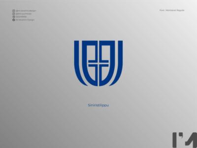 Siniristilippu logo concept logo design