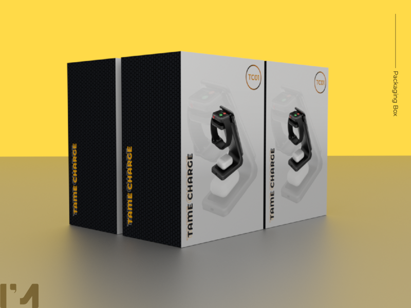 Packaging Box Charge design 3dmodel mockup blender3d 3d