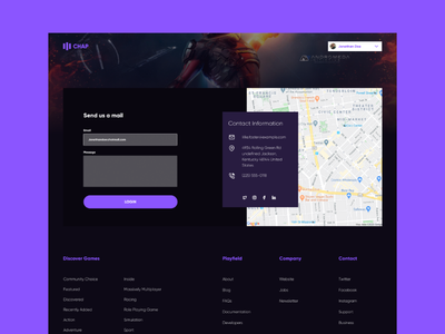 Form page for gaming site ui design uiux website gaming