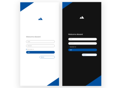 Mobile login form page
