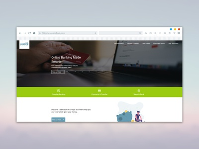 Landing page for Eco Bank