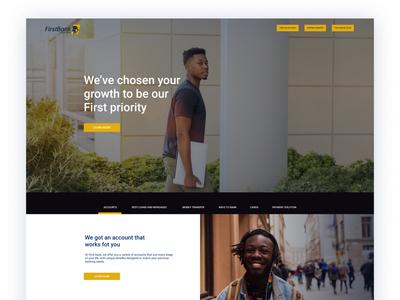 FIRST BANK NEW WEBSITE DESIGN
