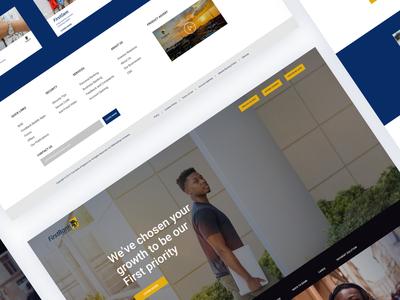 first bank website design