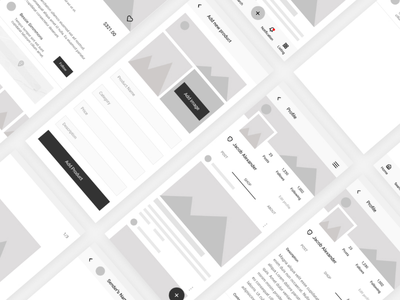 Wireframe idea for social media app research ux ui design wireframe social media