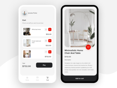 UI design for mobile commerce app