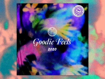 Goodie Feels 2020 illustration noise gradient texture vector branding brand typeface type typography music album artwork album art album