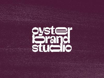 Oyster Brand Studio 3d vector flat logo typography texture branding illustration ui