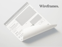 Wireframes (just do it?)