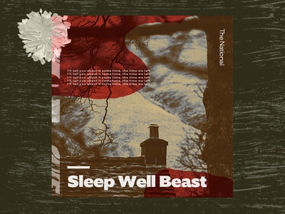 #4: The National - Sleep Well Beast wavvy typography texture pattern music illustration dark color branding the national album artwork abstract