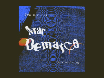 #3: Mac Demarco - This Old Dog wavvy texture pattern music illustration fun design color branding art album artwork abstract