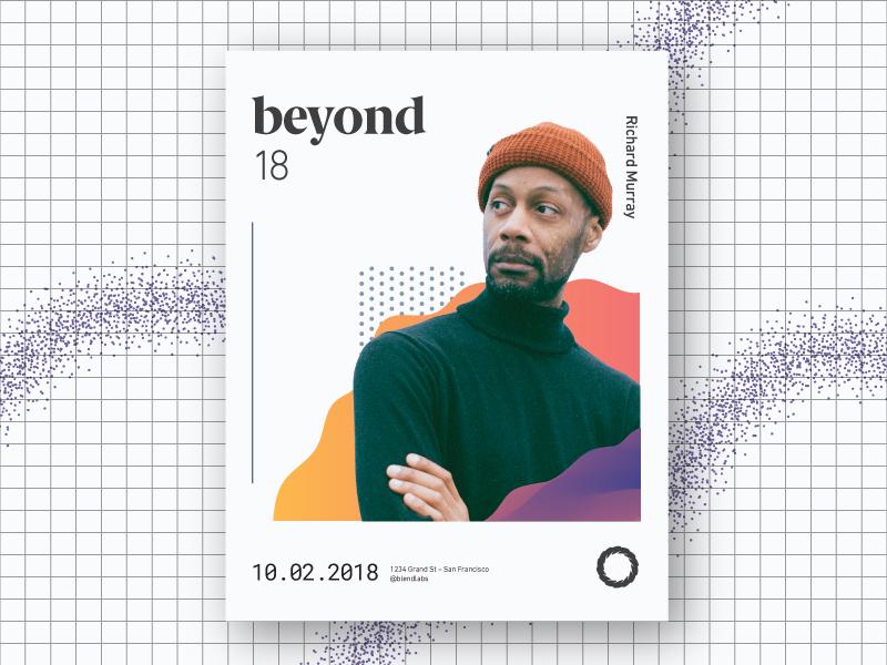 Unused Exploration – Beyond logo gradient typography fun conference creative flat event poster branding design illustration