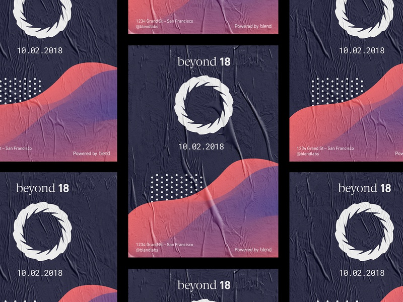 💀Beyond Poster poster gradient typography conference texture event branding event logo illustration design 3d