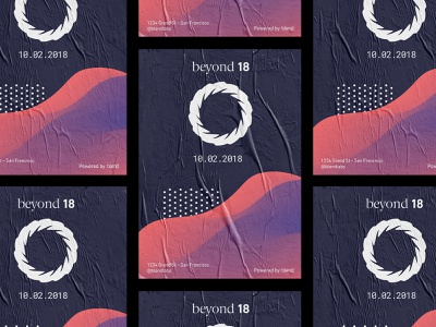 💀Beyond Poster poster gradient typography conference texture event branding event logo illustration design 3d