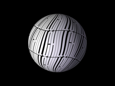 mantra for the week branding gradient sphere globe 3d wavvy warp text gif animation typography