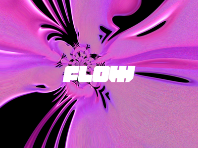Flow motion pattern design branding vector texture typography type metal liquid after effects gif animation