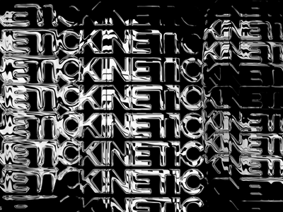 kinetic_01 branding vector design chrome metal gradient gif animation font texture type typography kinetic kinetic typography