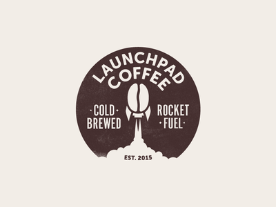 Launchpad Coffee first shot debut bean rocket logo coffee launchpad