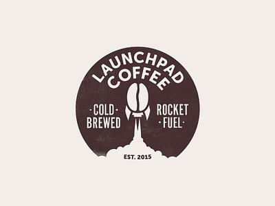 Launchpad Coffee first shot debut bean rocket logo coffee launchpad