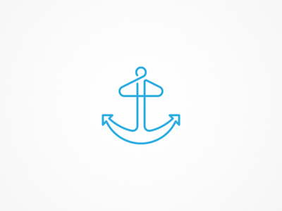 Blue anchor logo by jared brady dribbble blue anchor logo thecheapjerseys Images