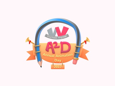 Virtual Voyage A2D Annual Animation Day 2017 Logo logotype logo design creative pencil 2017 a2d annual animation day a2d annual animation day virtual voyage virtual voyage