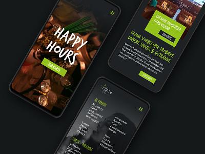 Titan Longue web app UI work cafe app pub app pub ui restra ui restra titan longue titan uidesign ui  ux uiux design clientwork germany cafe pub restaurant ui app design app