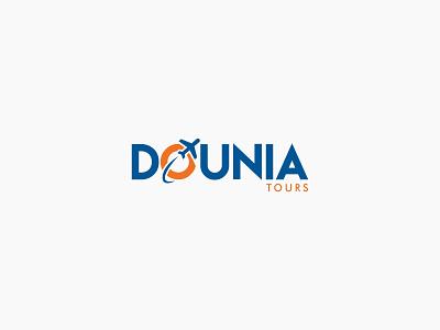 Dounia Tours logo Design branding brand crative design travel logo tavel tour logo logodesign logo designer logo a day logo mark logotype logos travel tourist tourism tours tour logo logo design