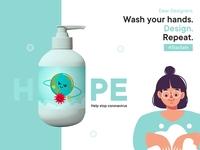 Hope hand wash soap | Help stop coronavirus