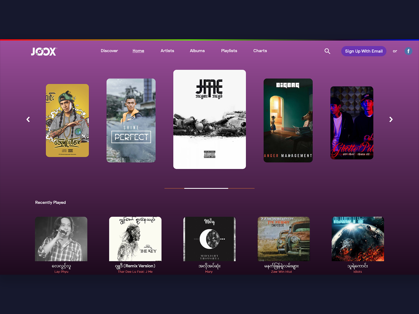 Joox Music Desktop-Redesign by Phyoe Sat Paing on Dribbble