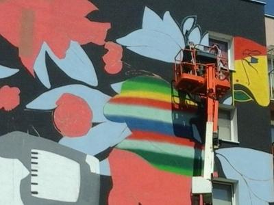 piece of mural in Jarocin (Poland)