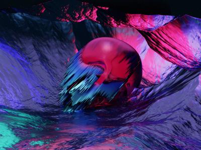 Malformation. skull 3d artist glass 3d art cycles cover art album art music render blender