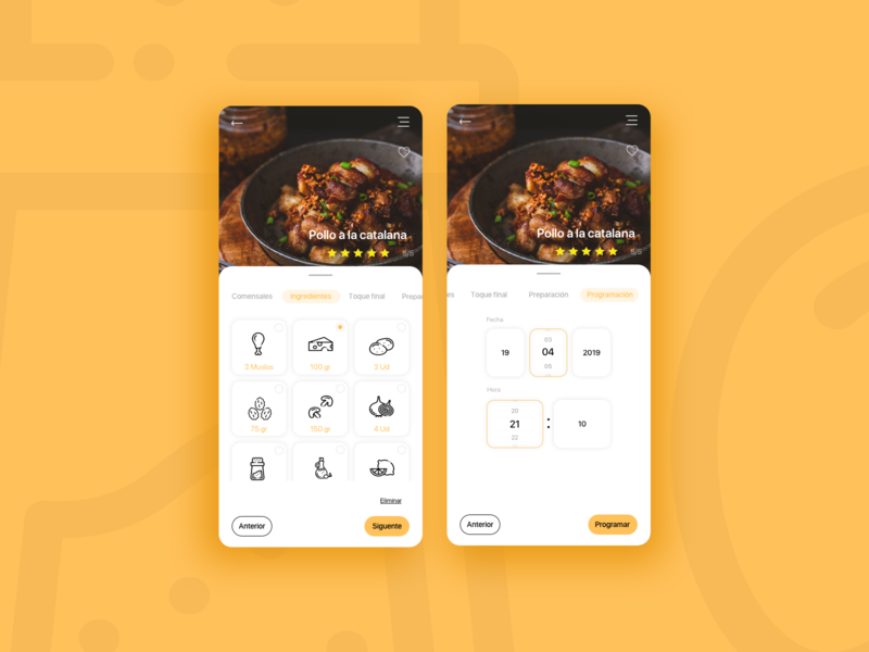 Cooking App cook cooking app design app  design ui sketch app interaction designer appdevelopers appdesign interaction sketch app
