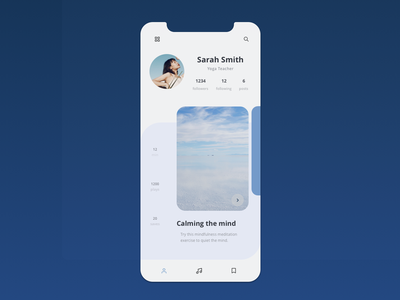 Daily UI 06 - User Profile dailyui 006 design app vector daily ui web uiux ui uidesign dailyuichallenge ui design dailyui