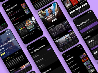 PlayNow - Mobile VOD app product design android ios video ux ui tv theatre player play movie hbo epg design