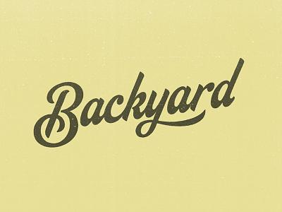 Backyard texture script wordmark logo typography