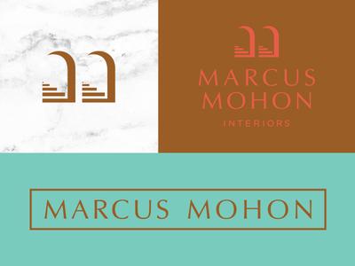 Mm Interiors mark logo interior icon branding