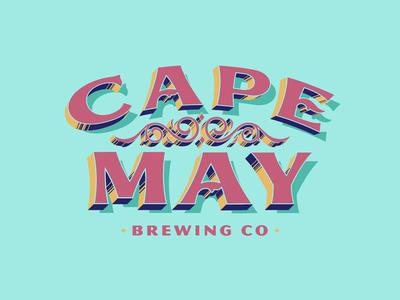 Beach Beer beach coastal vintage branding typography logos