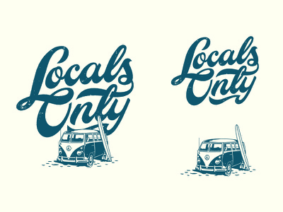 Locals Only Type texture script wordmark logo typography