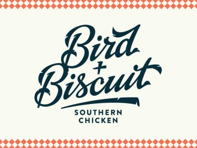 Bird + Biscuit bird biscuit chicken feather logo typography branding