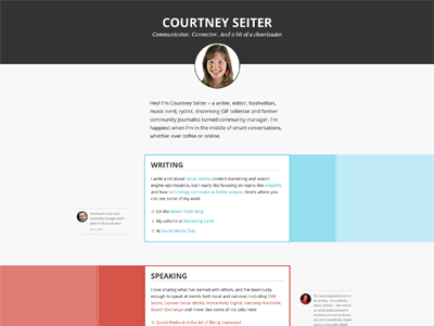 CourtneySeiter.com resume profile portfolio