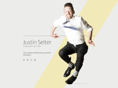 JustinSeiter.com gimp inkscape express node.js sans adagio