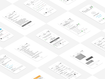 Wireframes for Hospital Tracking System app ios interface design application healthcare medical control task appointment status monitoring tracking hospital patient caregiver iphone mobile ux ui