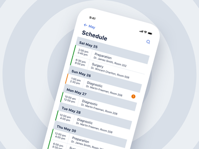 Hospital Tracking System app ios interface design application healthcare medical control task appointment status monitoring tracking hospital patient caregiver iphone mobile ux ui