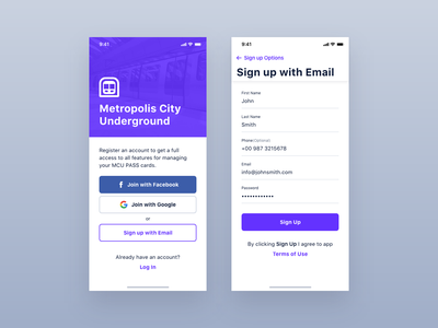 MCU - Authentication trip pass ticket travel transportation mobility city subway card underground transport app ios interface design application iphone mobile ux ui