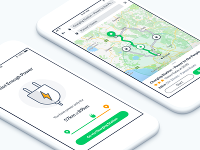 Navigation App transportation transport green energy car route drive navigation traffic application design iphone interface ios mobile app ux ui electric
