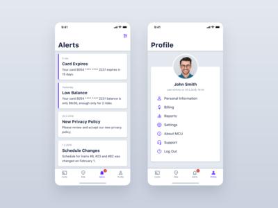 MCU – Alerts and Profile