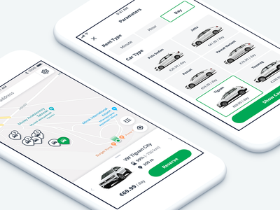 Carsharing App rent auto sharing mobility car sharing ui ux app mobile ios iphone design application traffic navigation drive route car transport transportation