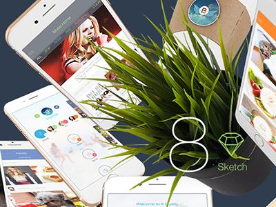 8 for Sketch 3 - Mobile UI Kit