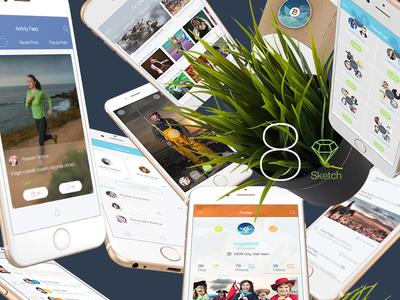 8 for Sketch 3 - Mobile UI Kit Part 5