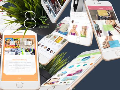 8 for Sketch 3 - Mobile UI Kit Part 6